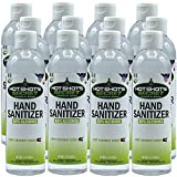 Hot Shot's Secret Instant Antibacterial Gel Hand Sanitizer with Ethyl Alcohol | Waterless Germ Killing Formula | Moisturizing Light Coconut Scent | Made in USA (8 oz Squeeze / 12 PK)