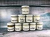Mini vasetti da 40 ml - 10 pezzi profumi assortiti da scegliere per provare le nostre fragranze – Piccole candele in cera di soia e oli essenziali