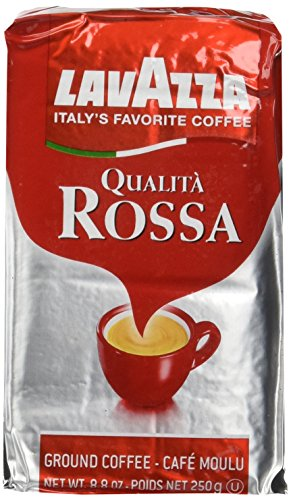 Lavazza Qualita Rossa, Caffe Ground Espresso, 8.8 Ounce Bag (Pack of 3)