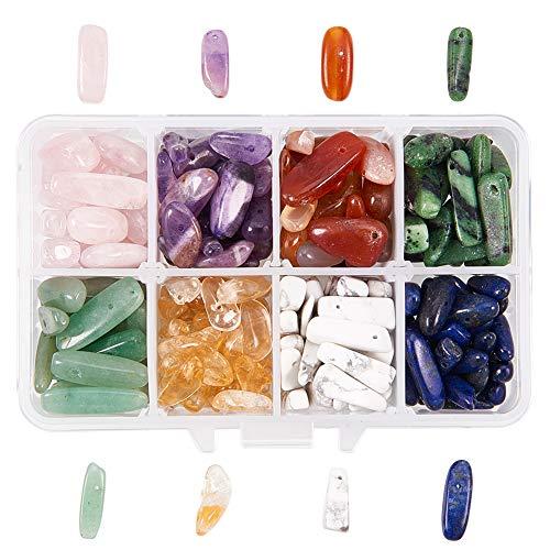NBEADS 1 Caja de Cuentas de Piedras Preciosas Naturales de Colores Mezclados con Cristales en Forma Irregular, para Hacer Joyas