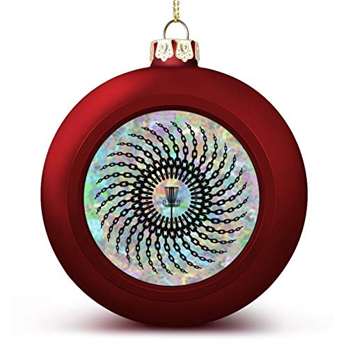 VinMea Christmas Ball Ornaments Disc Golf Basket Chains Hanging Ball Decorative For Christmas Trees,Holiday Party