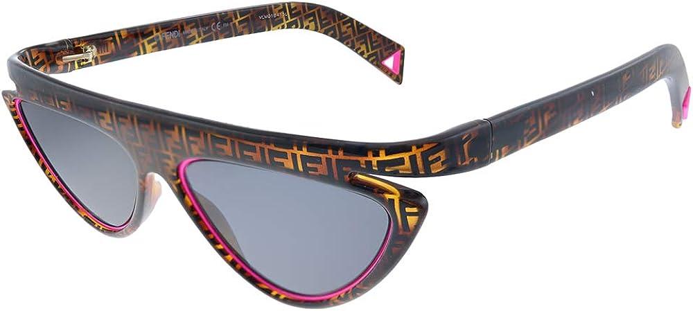 Fendi, Occhiali da Sole PER  DONNA, realizzati in acetato tartarugato decorato con il monogramma `FF` FF 0383/S