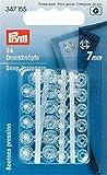 Prym 347155Botones presión plástico Transparente 7mm, 24 Unidades, plástico Blanco 2X 1X 1cm