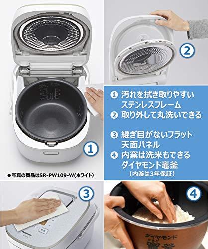 パナソニック 炊飯器 1升 可変圧力IH式 おどり炊き ブラウン SR-PA189-T