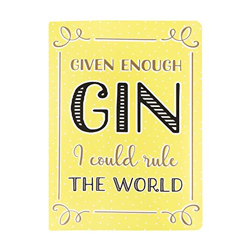 Gin Time Rule The World Party A5 Notebook Yellow Gold Girl Cute Stationery Pad
