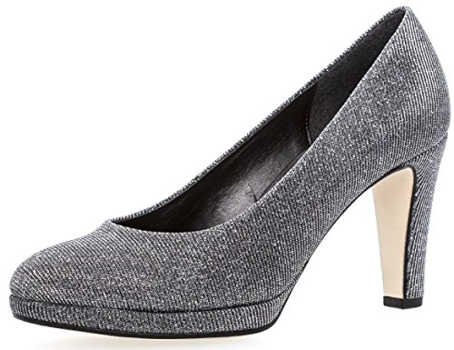 Herrliche Damen Kleid Pumps 5.5 UK/ 38.5 EU Argento Metallic Hi Tec