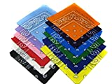 12 Color Pack Double Sided Print Paisley Bandana Scar (1)
