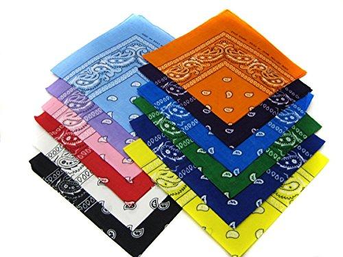 12 Color Pack Double Sided Print Paisley Bandana Scar (1)
