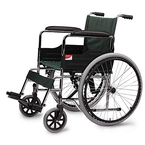 Yaeele stoßfest Krankenhaus-Rollbett, Medizintechnik Rack Leichte faltrollstuhl Driving Medical, Multi-Funktions-Rollstuhl Tragbarer Scooter Elderly Elderly Behinderte Wagen Tragbarer Bus-Reise-Stuhl,