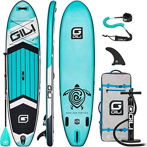 GILI 10'6 Inflatable Stand Up Paddle Board Package (10'6' Long 31'...