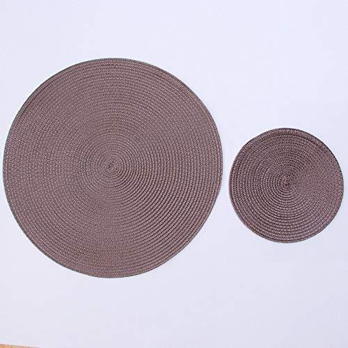 KONGZIR INS Ronda Tejida PP Individuales Impermeable Mesa de Comedor alfombras Antideslizantes Vajilla Tazón de ratón Beba Suministros Taza del Partido de Cocina Posavasos