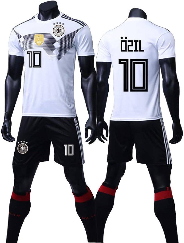 LIUJING Heim- und Auswrtstrikots der deutschen Nationalmannschaft 13 Muller 10 zil Fuballbekleidung für Mnner, feuchtigkeitsableitend und schnelltrocknend WM 2018 (3XS-2XL)
