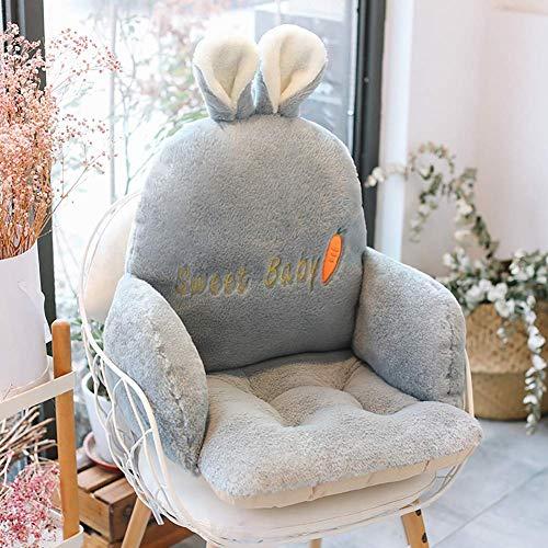 Cuscino per sedia da esterno per casa Cuscino per sedia posteriore, comodo relax con cuscino, cuscino per sedile siamese addensato imbottito in peluche adorabile F 55x36x36 cm (22x14x14 pollici)