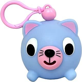 Oshaberi Doubutsu Talking Animal Ball Borukuma Stress Ball - Key Chain Clip - Blue Cat