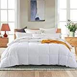 Pinzon Luxurious Down Alternative Comforter Duvet Insert with Tabs, 400 Thread Count Cotton - White, Twin