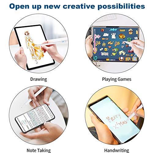 Rpanle Stylus Stift, Wiederaufladbarer Eingabestift Active Pencil kapazitiver Stylus Touchstift mit 1.5mm feiner Spitze Kompatibel mit iPads/Tablets/Lenovo/Huawei/HTC/Pixel (Weiß)
