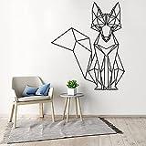 Nordischen Stil Wolf Kunst geometrische Vinyl Wandaufkleber dekorative Aufkleber Wandtattoo Wandbild Tapete Wandbild A5 58x70cm