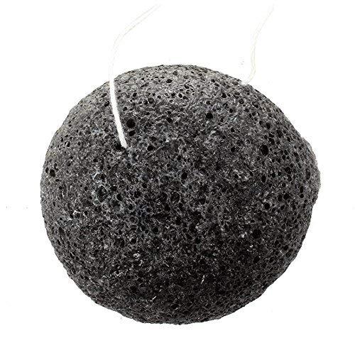 TOOGOO(R)Naturel Konjac Eponge de Visage Nettoyage de Visage - Noir
