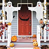 Halloween Ghost Hanging Decoration Outdoor Decor, Hallowmas Tree Hugger with Cute Face Friendly Outdoor Halloween Decor for Porch, Tree, Yard and Spooky Party (2pcs, 45.6x45.6 inch)