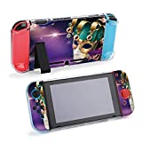SUPNON Mardi Gras Carnival Design with Clown in 3D Compatible with Nintendo Switch Console & Joy-Con Protective Case, Durable Flexible Shock-Absorption Anti-Scratch Drop Design38455