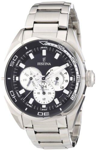 Festina Herren-Armbanduhr XL Sport Multifunktion Analog Quarz Edelstahl F16608/5