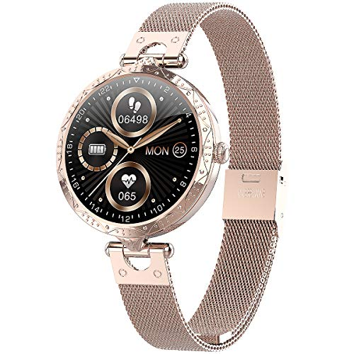 Misowear Smart Watch for Women,Full Touch Screen Fitness Tracker with...