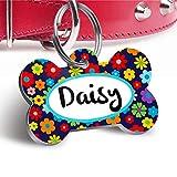 Pet Tag Art Agradables Laterales Dobles en forma de Hueso del Arte de la Etiqueta del Animal Doméstico, Etiquetas de Perro del Gato