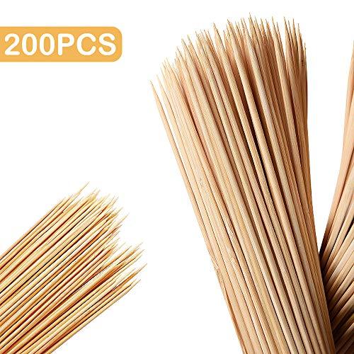 Skystuff Holzspieße, Bambus, 40 cm, 200 Stück