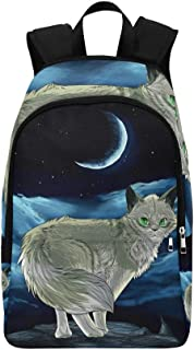 YPink Cats Painting Art Crescent Night X Casual Daypack Travel Bag College School Backpack for Mens and Women