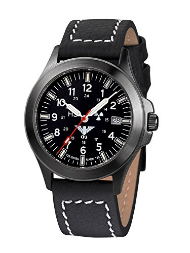 KHS Tactical Watches Black Platoon Titan KHS.BPT.LBB Militär Armbanduhr