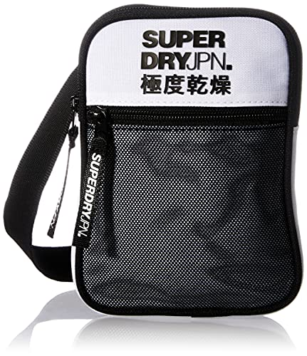 Superdry Mens Sport Pouch Bags, White, One Size