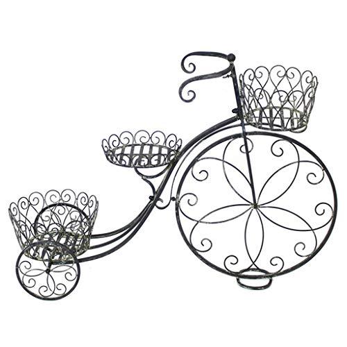 DNSJB Fahrrad-Blumenständer, Retro-Stil, Schmiedeeisern, Float Rack für Schaufenster und Zuhause