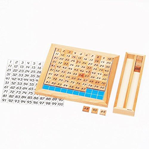 【MONTE Kids】モンテッソーリ教具 -- 100並べセット -- Montessori 知育玩具教具 幼児早期教育 モンテキッ...