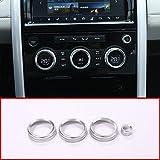 KDLLK Interior automotriz,para Land Rover Discovery 5 LR5 L462 2017-2020 4Pcs / Set Perillas de Aire Acondicionado de aleación de diseño de automóviles Audio Circle Trim Accessorires