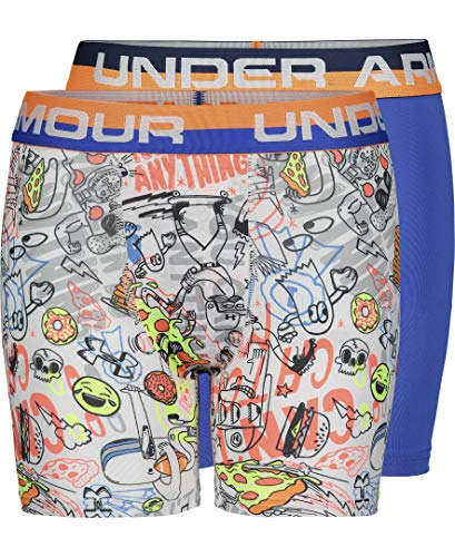 Under Armour Boys' Baby Performance Boxer Briefs, White-sp20, YLG