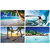 GREAT ART® 4er Set XXL Poster Kinder Motive – Surfen &