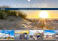 NORDSEE-VERLIEBT (Wandkalender 2022 DIN A3 quer): Impressionen von der Waterkant (Monatskalender, 14 Seiten )