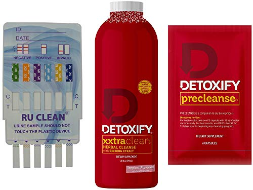 Detoxify Xxtra Clean Cleansing Drink - Herbal Precleanse Capsules - RU Clean 6 - Pre Cleanse, Detoxify and Quick Flush Your Body - Fast Professionally Formulated 1 Hour RU Clean Detoxify Kit.