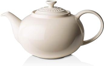 Le Creuset Stoneware Classic Teapot, 1.3 L, Creme