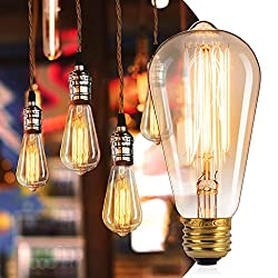 professional 6 Vintage Edison Minetom Light Bulbs E26 Base Dimmable, Antique 60W Light Bulbs …