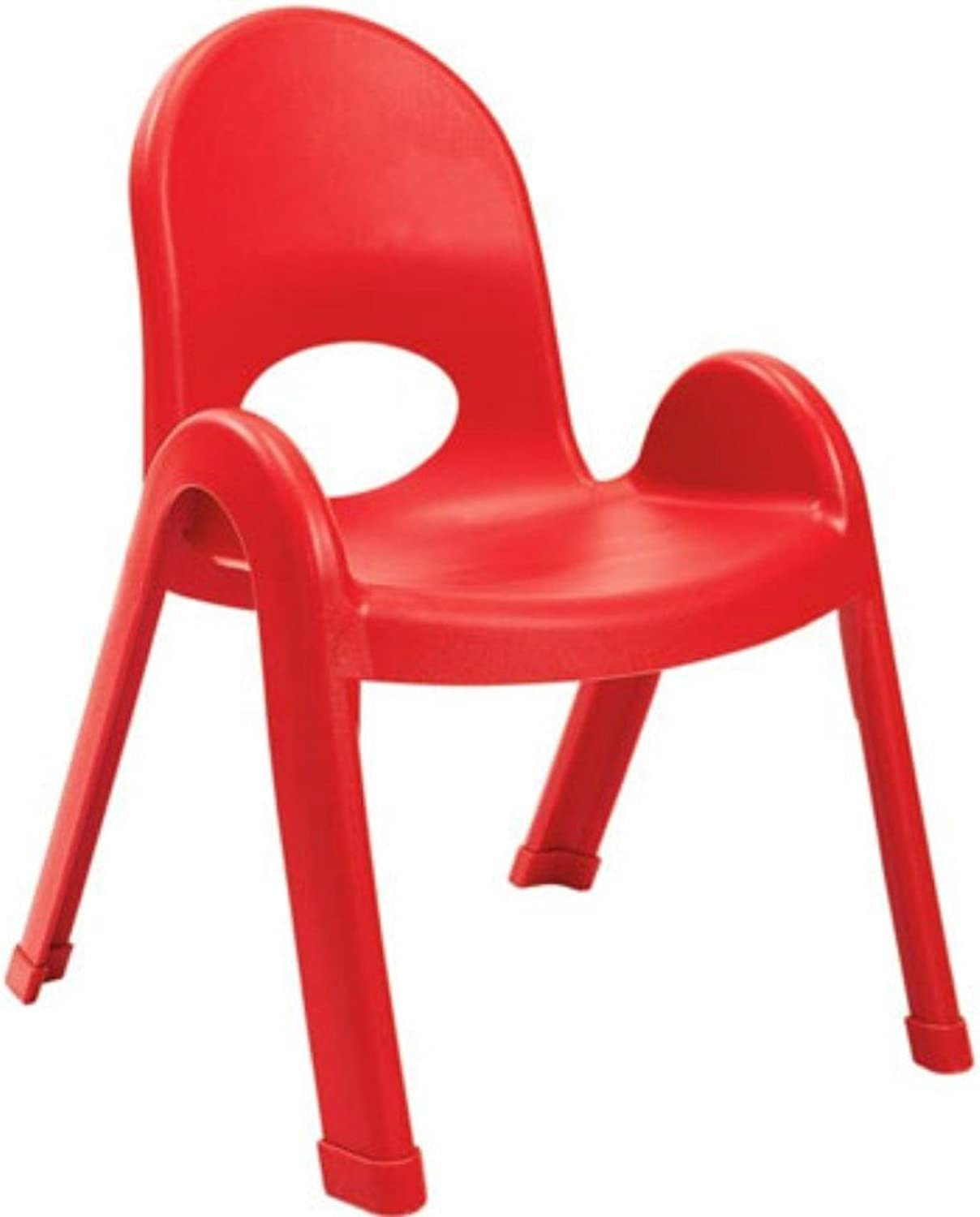 Angeles Value Kids Home Preshool Daycare Classroom Stack Chair 11  Candy Apple Red