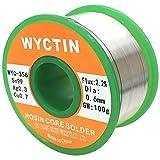 Wyctin 356 0,6 mm Fil à souder sans plomb SN 99-ag 0.3-cu 0,7 Tin Enrouleur avec Colophane Core, 0,1 kilogram (100g)