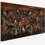 SIRIUSART Cuadro de Arte de Pared Lienzo de Pintura de Personajes Famosos Que discute la Divina Comedia con Dante Pintura al óleo Imprime póster para Sala de Estar 60x90cm
