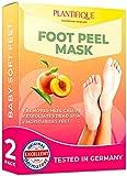Mascarilla Exfoliante Pies de melocotón probada dermatológicamente - calcetines exfoliantes de pies para callos y peeling pies de Plantifique - Eficaz para callos, piel muerta y seca - 2 pares