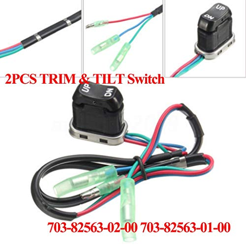 HaoYueDa 2x Boat Motor 703-82563-02 703-82563-01 Trim & Tilt Switch Replacement for Yamaha Outboard Engine Remote Control Box