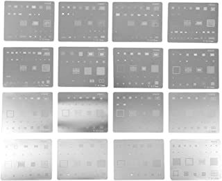 16pcs IC Chip BGA Reballing Stencil Kits Solder Template for iPhone