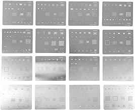 16PCS IC Chip BGA Reballing Stencil Kits Set High Precision Solder Template for iPhone CPU Repair