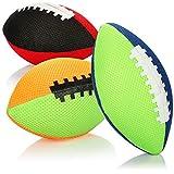 com-four 3X Ballon de Rugby Gonflable - Mini Ballon de Rugby 18 cm - Ballon Plus Doux pour Enfants pour la Plage, la Piscine, Le Jardin