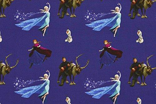 Jersey Disney Frozen dunkelblau Digitaldruck 1,5m Breite