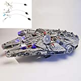 DIY LED Light Set Compatible with Lego Star Wars Millennium Falcon 75192, USB Light Kit for (Star Wars Millennium Falcon) Building Blocks Model Kids (Not Included The Model)